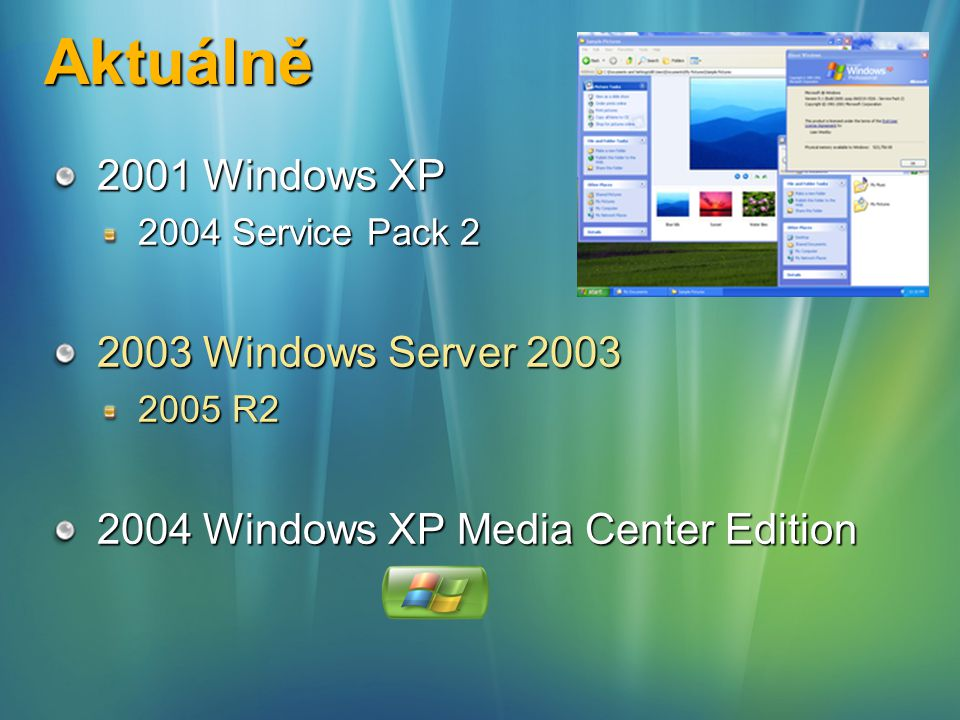 Aktuálně 2001 Windows XP 2003 Windows Server 2003