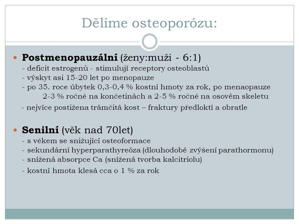 Dělíme osteoporózu: