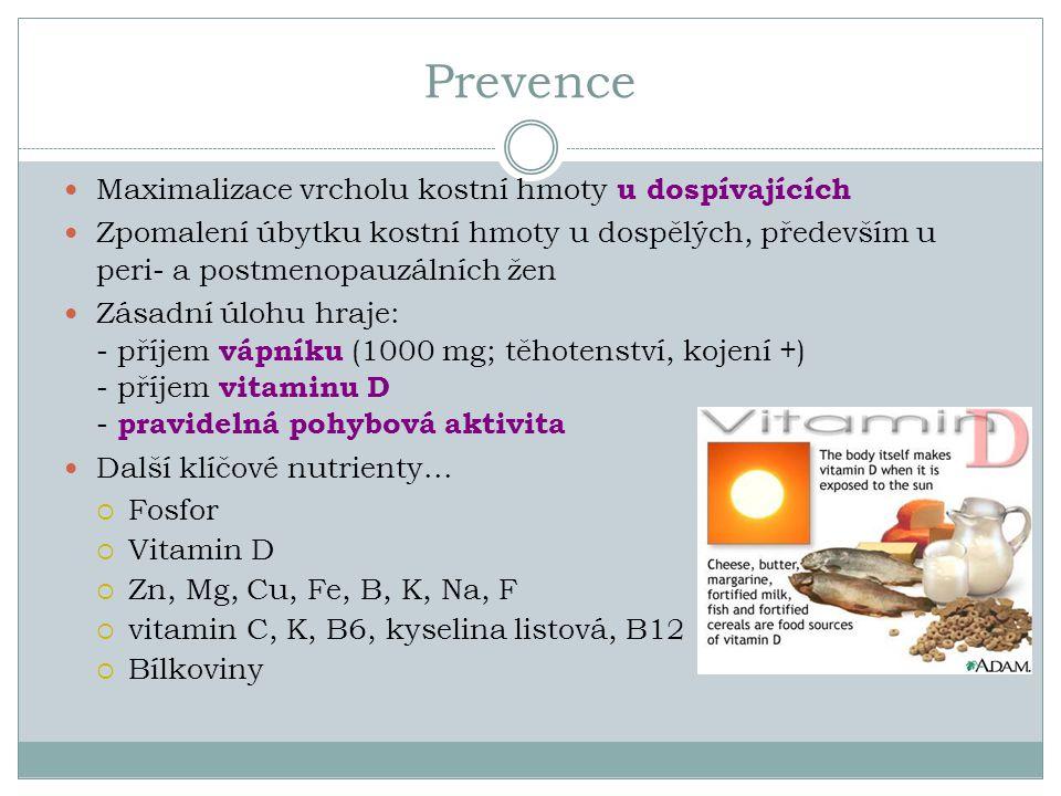 Prevence Maximalizace vrcholu kostní hmoty u dospívajících