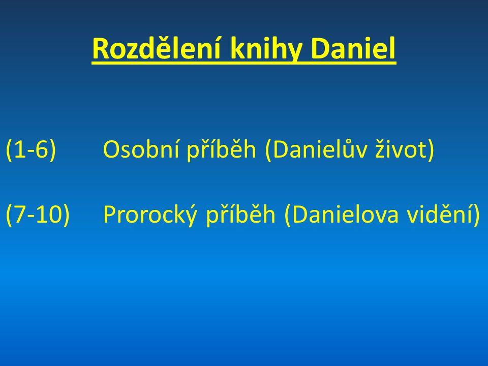 Rozdělení knihy Daniel
