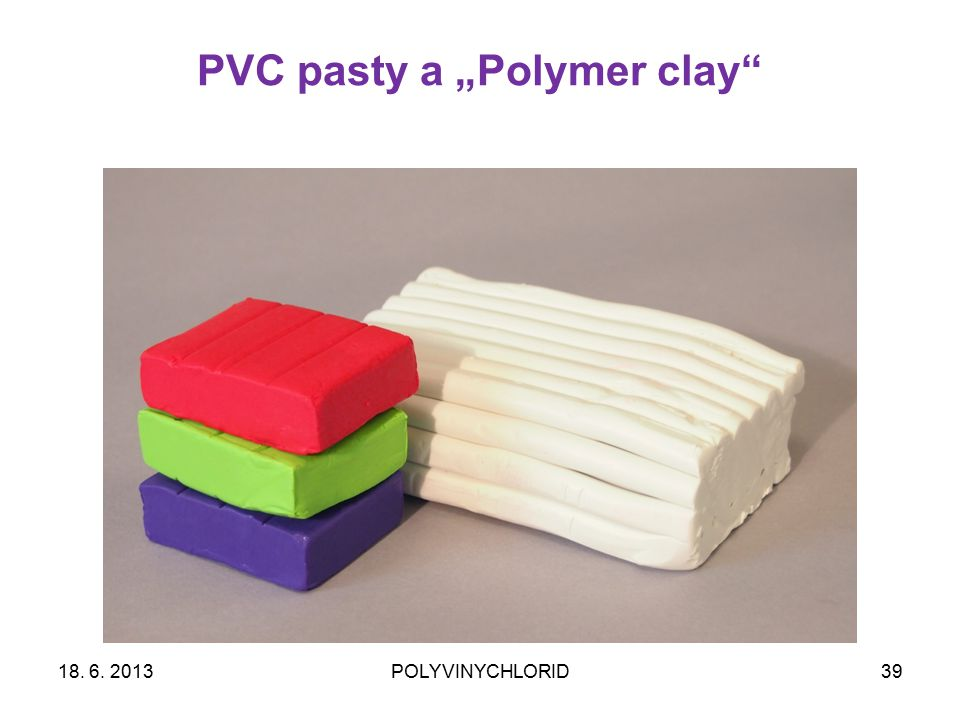 "PVC pasty a ""Polymer clay"