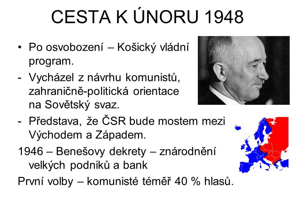 CESTA K ÚNORU 1948 Po osvobození – Košický vládní program.