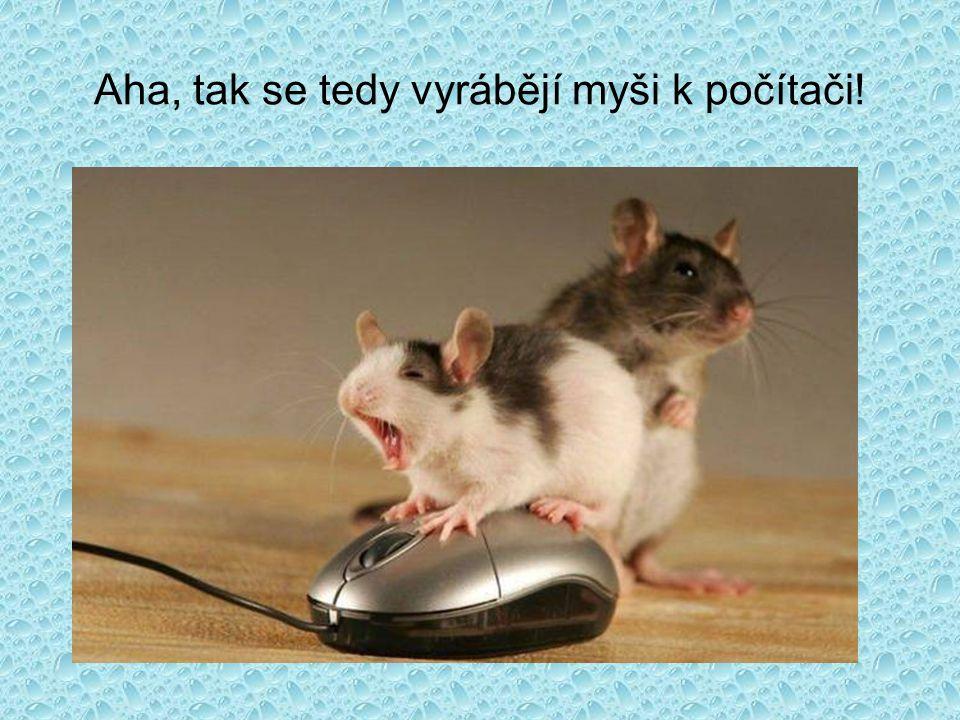 Aha, tak se tedy vyrábějí myši k počítači!