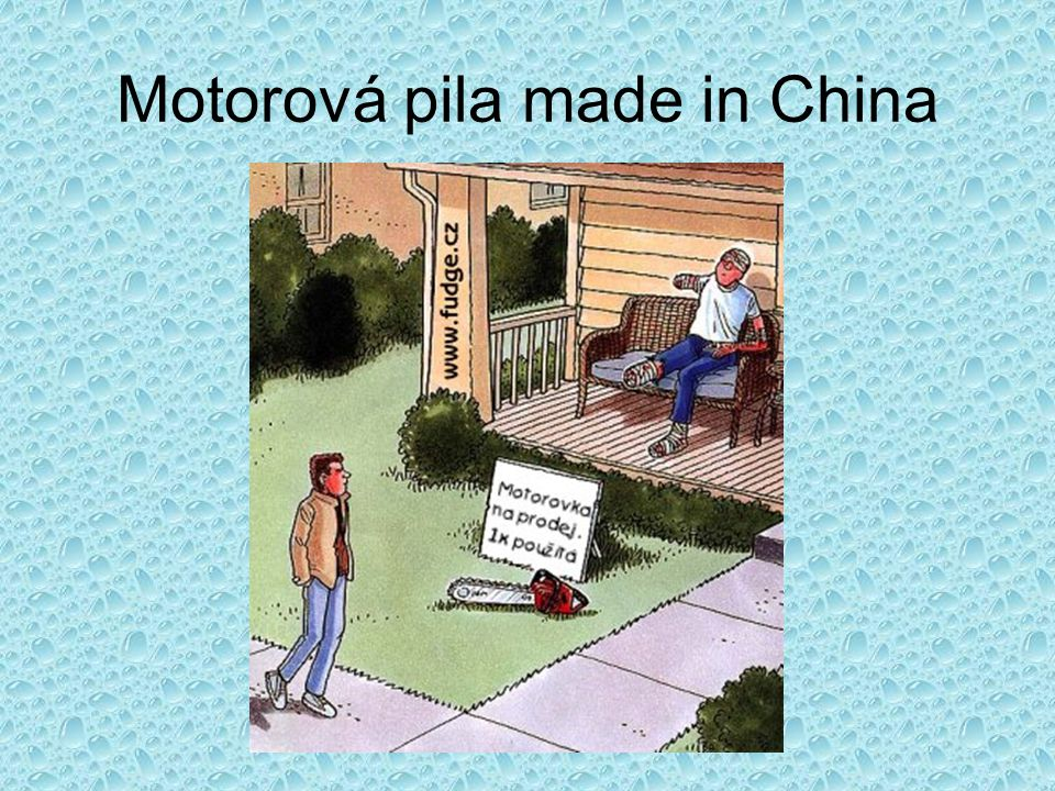 Motorová pila made in China