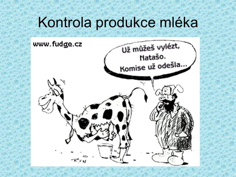 Kontrola produkce mléka
