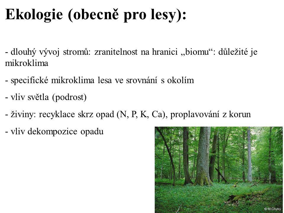 Ekologie (obecně pro lesy):