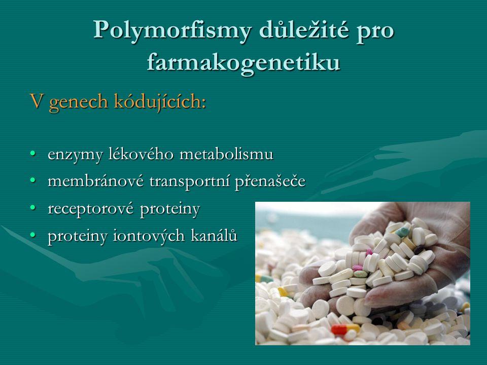 Polymorfismy důležité pro farmakogenetiku