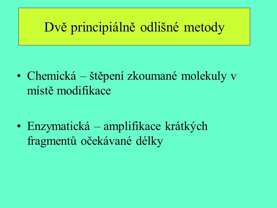 Dvě principiálně odlišné metody