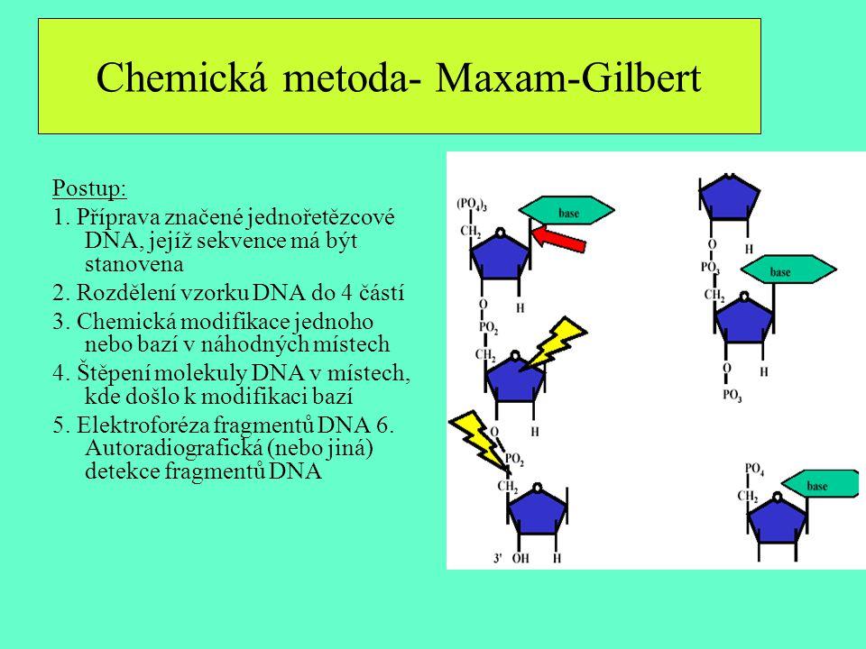 Chemická metoda- Maxam-Gilbert