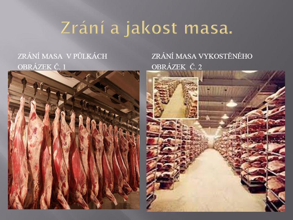 Zrání a jakost masa. Zrání masa v půlkách Obrázek č. 1