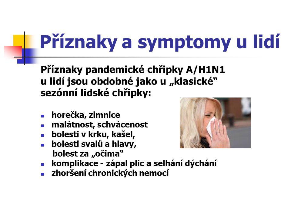 Příznaky a symptomy u lidí