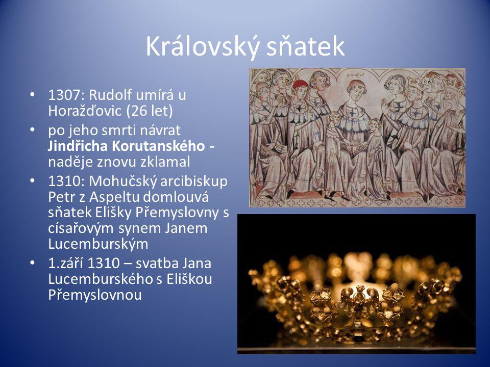 Královský sňatek 1307: Rudolf umírá u Horažďovic (26 let)