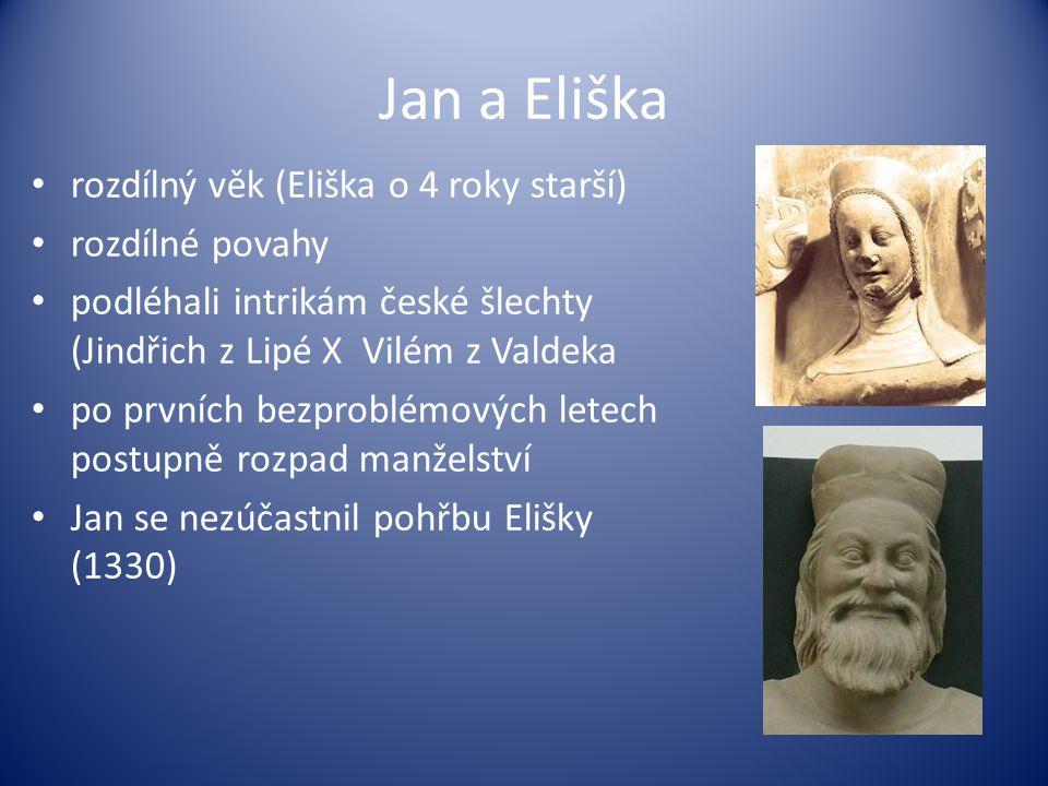 Jan a Eliška rozdílný věk (Eliška o 4 roky starší) rozdílné povahy