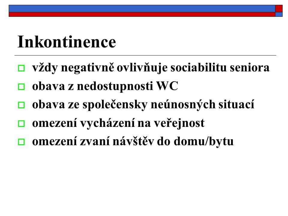 Inkontinence vždy negativně ovlivňuje sociabilitu seniora