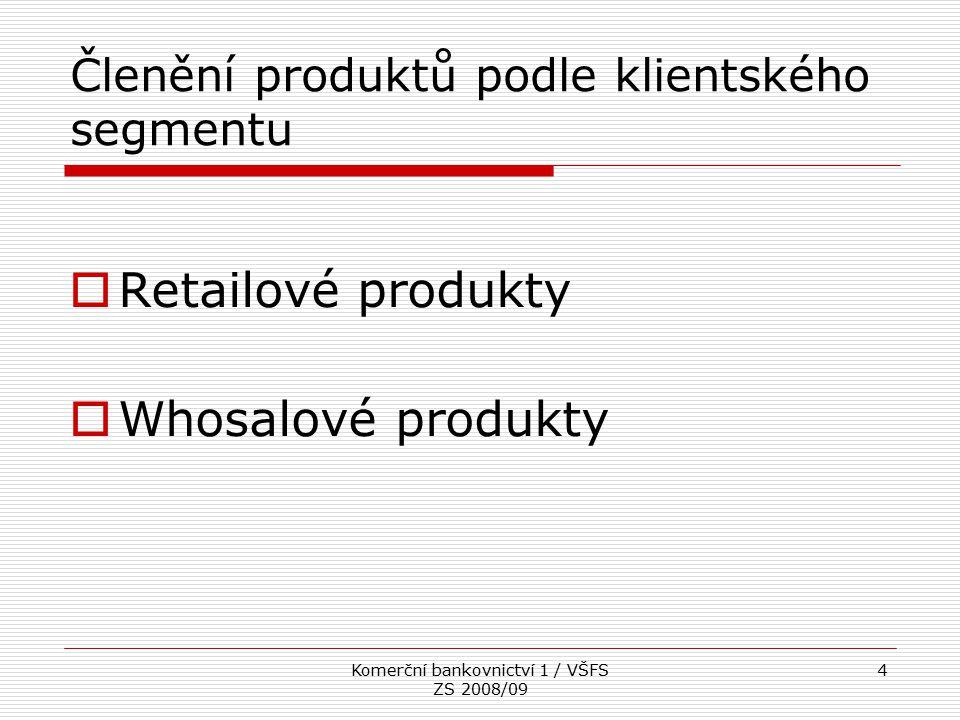 Členění produktů podle klientského segmentu