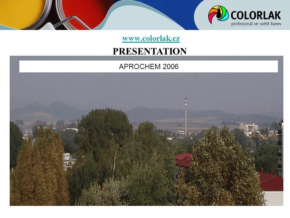 www.colorlak.cz PRESENTATION APROCHEM 2006