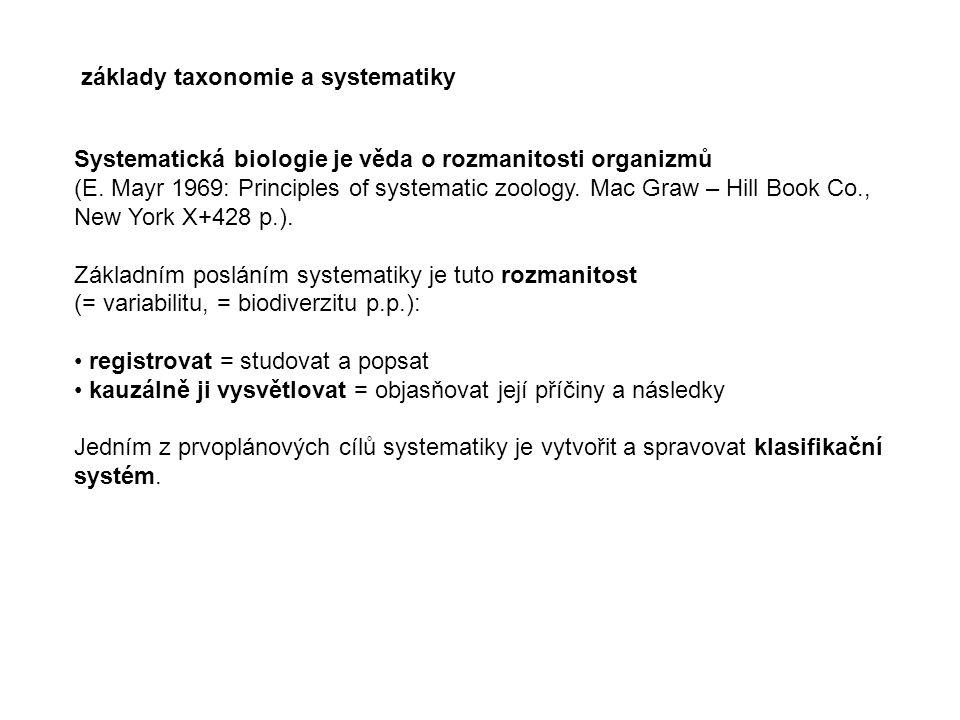základy taxonomie a systematiky