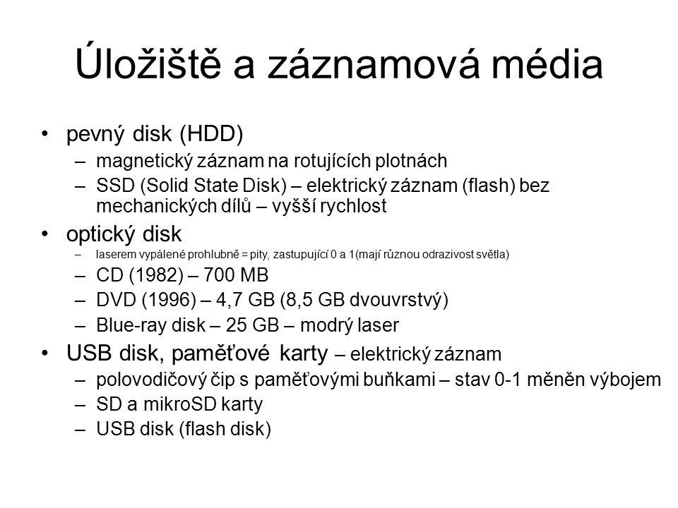 Úložiště a záznamová média