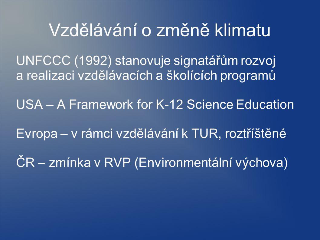 Vzdělávání o změně klimatu