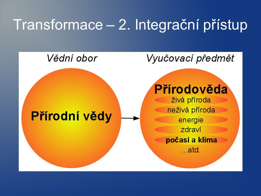 Transformace – 2. Integrační přístup