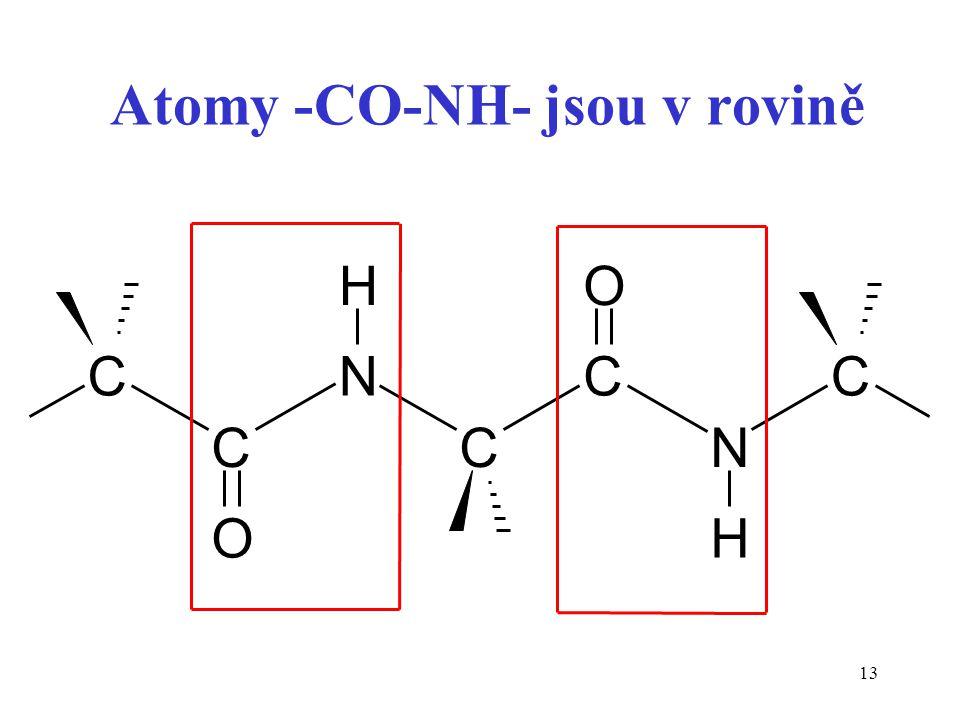 Atomy -CO-NH- jsou v rovině