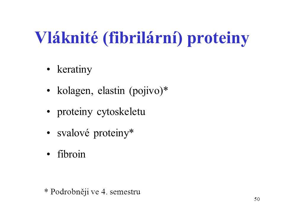 Vláknité (fibrilární) proteiny