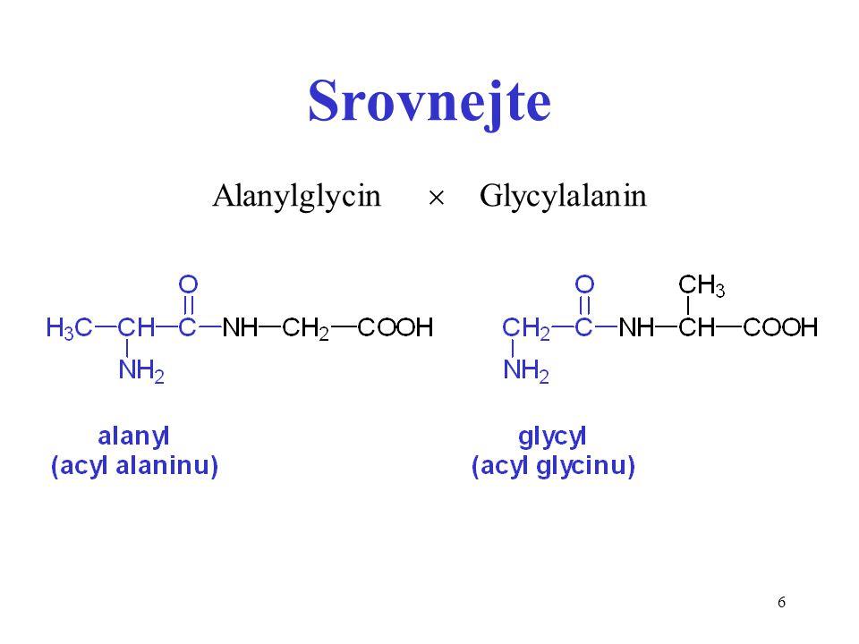 Srovnejte Alanylglycin  Glycylalanin