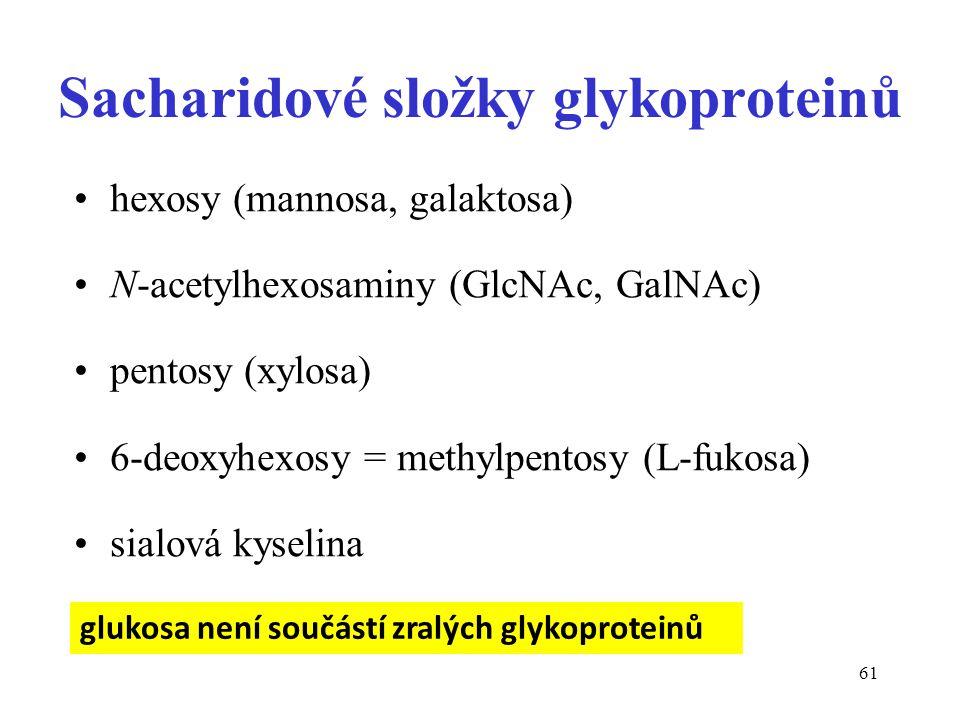 Sacharidové složky glykoproteinů