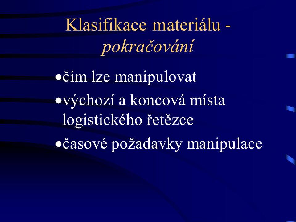 Klasifikace materiálu - pokračování