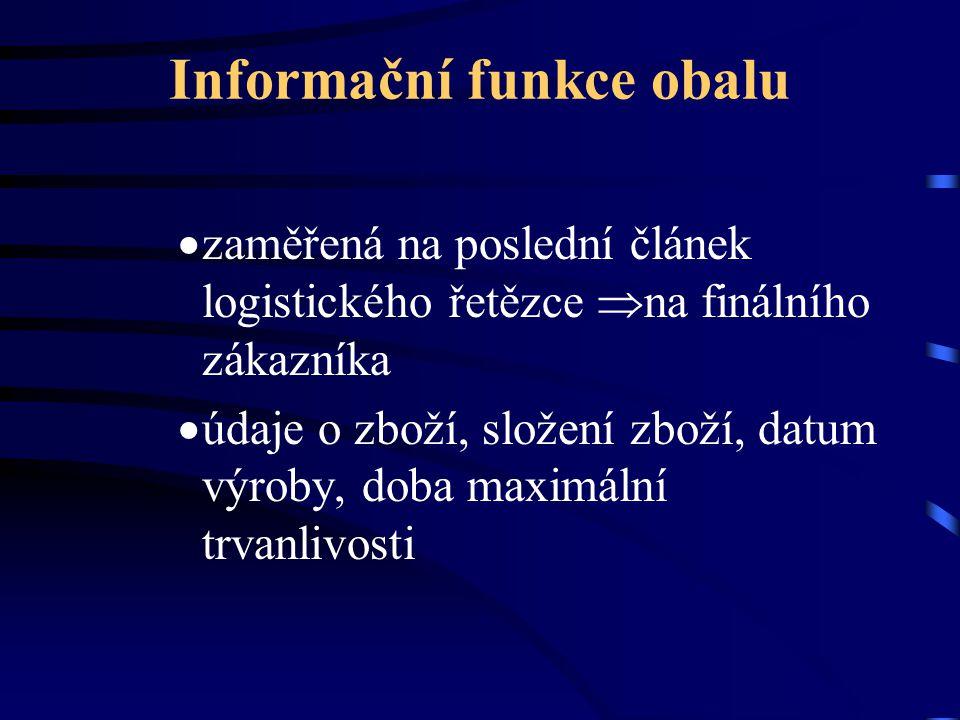 Informační funkce obalu