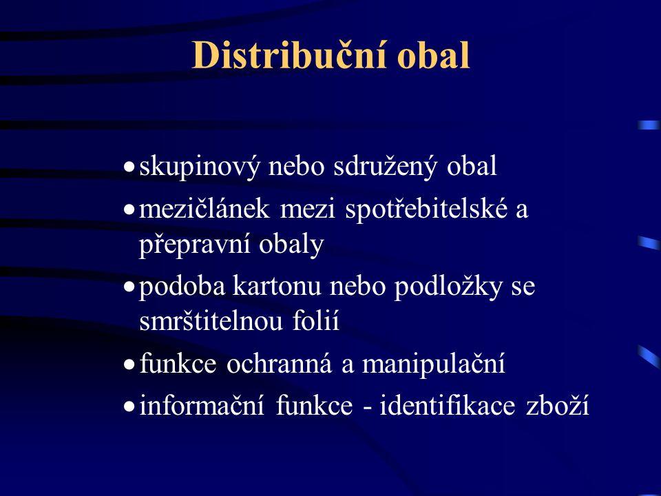 Distribuční obal skupinový nebo sdružený obal