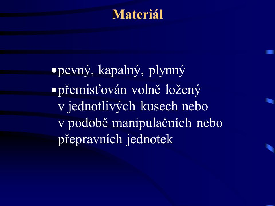 Materiál pevný, kapalný, plynný.