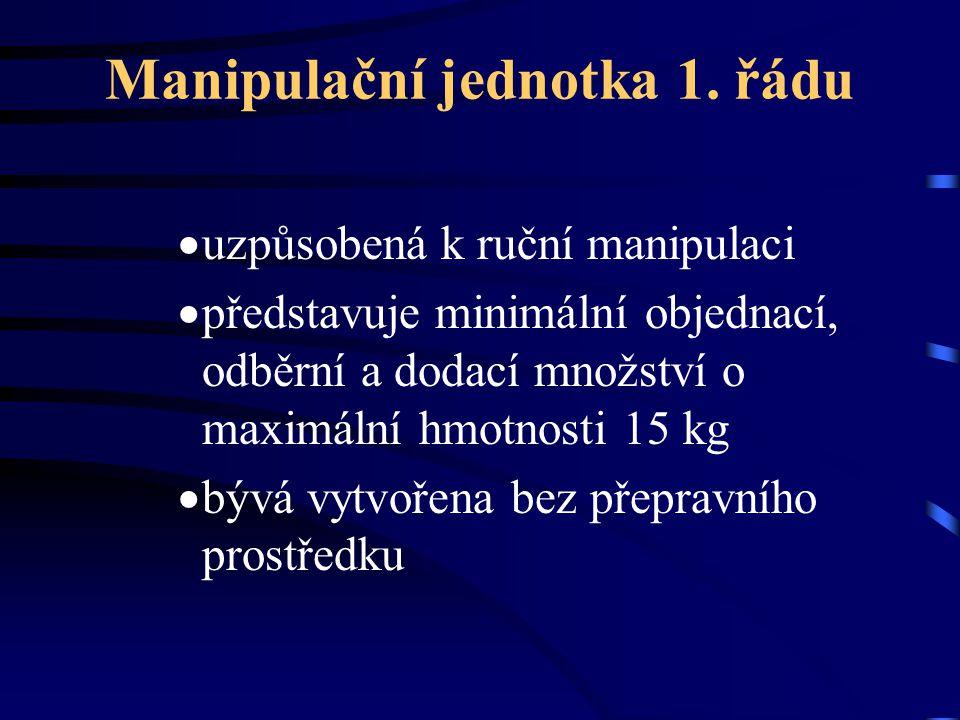Manipulační jednotka 1. řádu