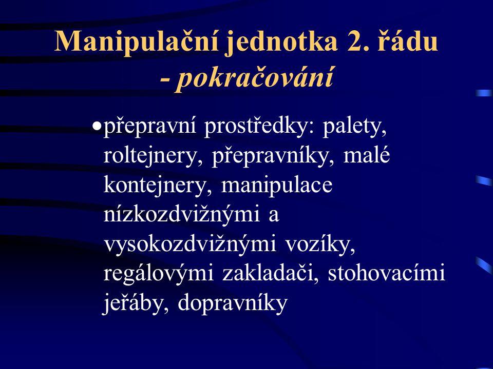Manipulační jednotka 2. řádu - pokračování