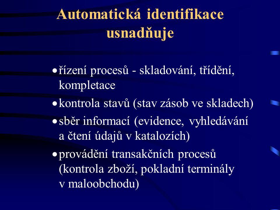 Automatická identifikace usnadňuje