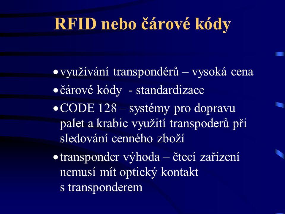 RFID nebo čárové kódy využívání transpondérů – vysoká cena