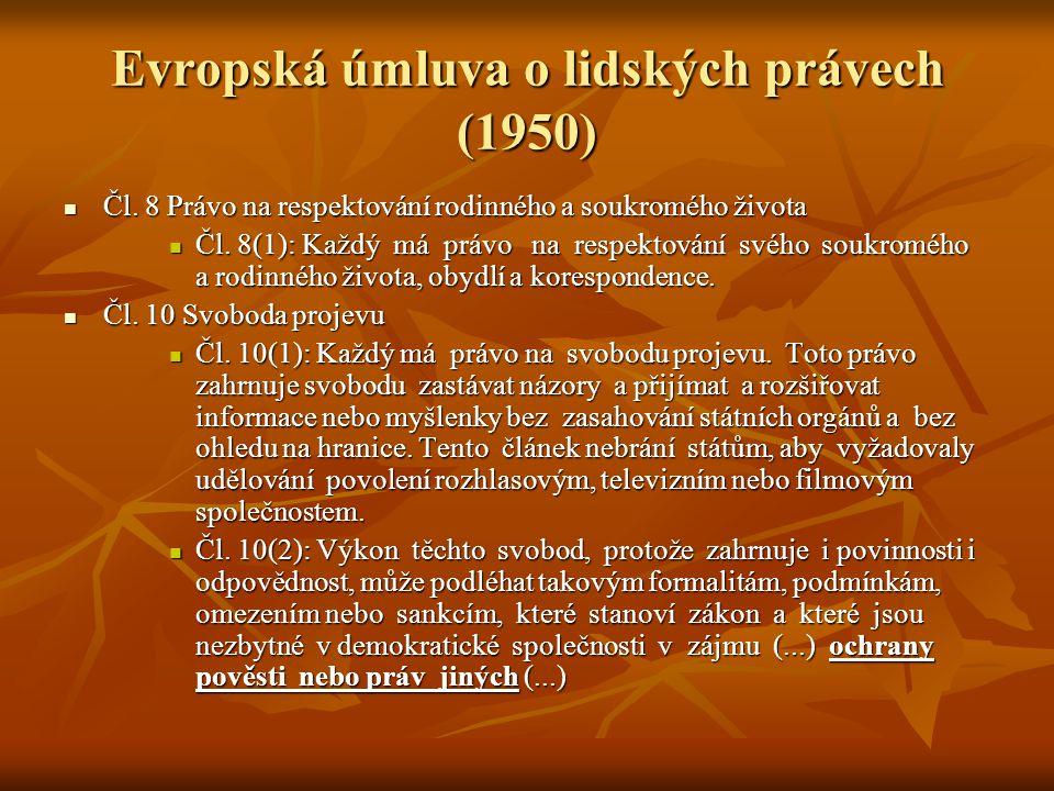Evropská úmluva o lidských právech (1950)