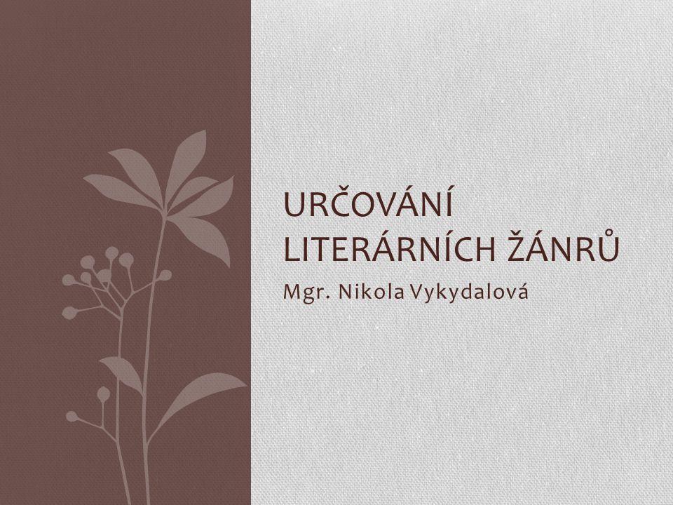 Určování literárních žánrů
