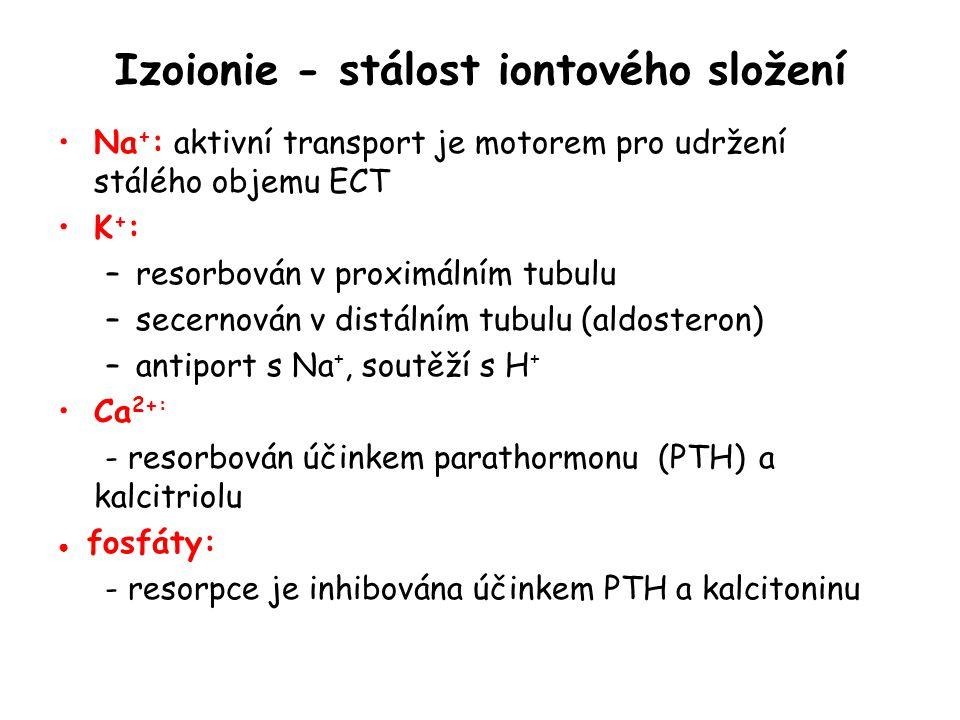 Izoionie - stálost iontového složení