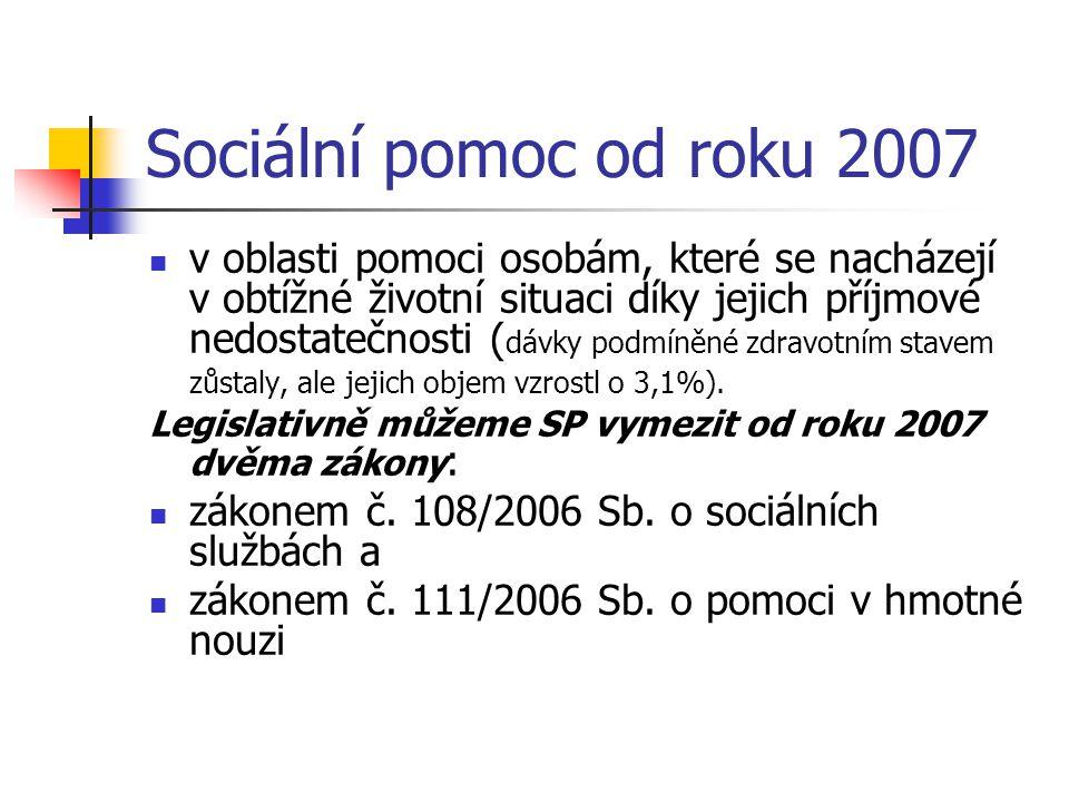Sociální pomoc od roku 2007