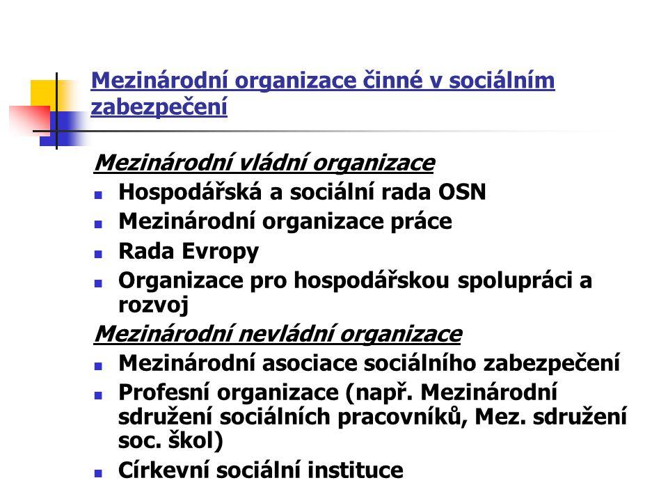 Mezinárodní organizace činné v sociálním zabezpečení
