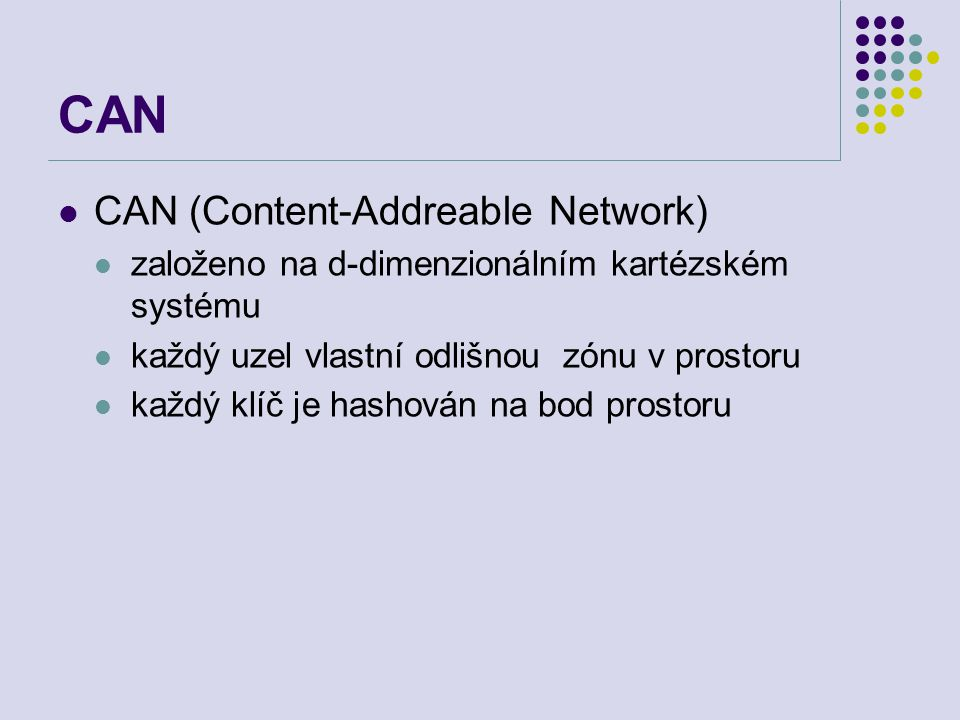 CAN CAN (Content-Addreable Network)