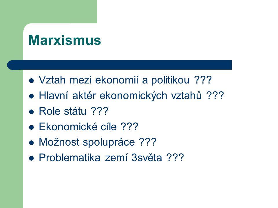 Marxismus Vztah mezi ekonomií a politikou