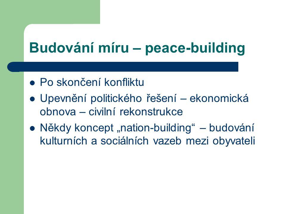 Budování míru – peace-building