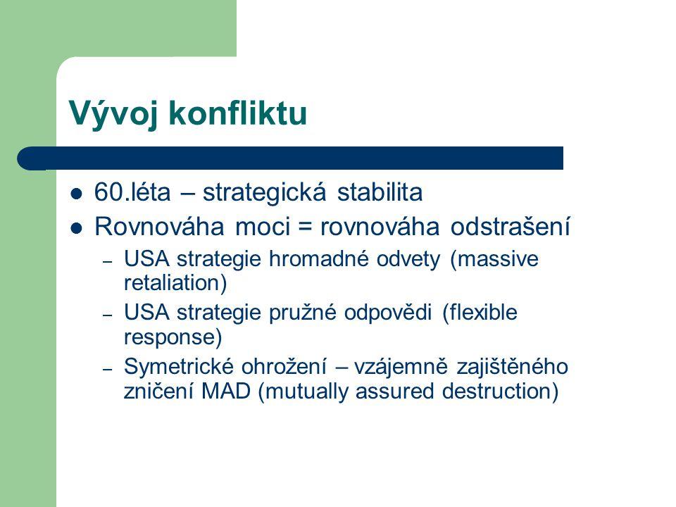 Vývoj konfliktu 60.léta – strategická stabilita
