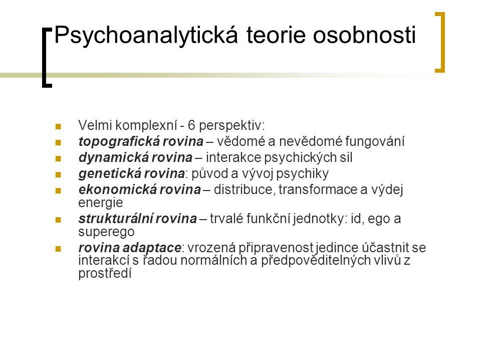Psychoanalytická teorie osobnosti