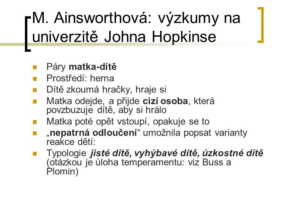M. Ainsworthová: výzkumy na univerzitě Johna Hopkinse