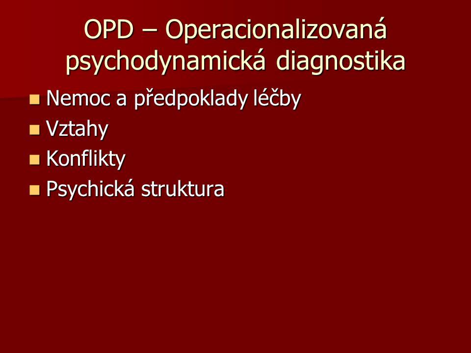 OPD – Operacionalizovaná psychodynamická diagnostika