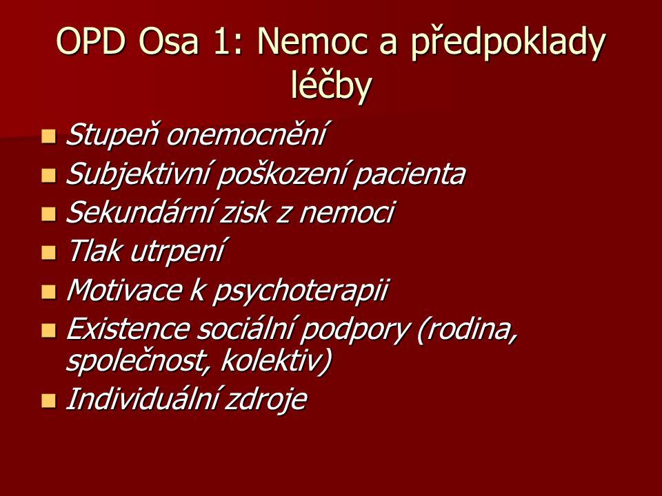OPD Osa 1: Nemoc a předpoklady léčby