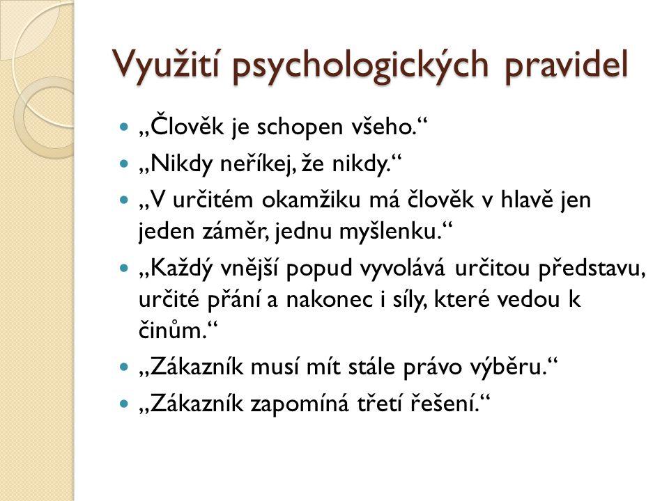 Využití psychologických pravidel